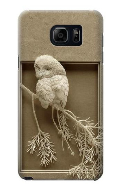 S1386 Paper Sculpture Owl Case For Galaxy S6 Edge Plus