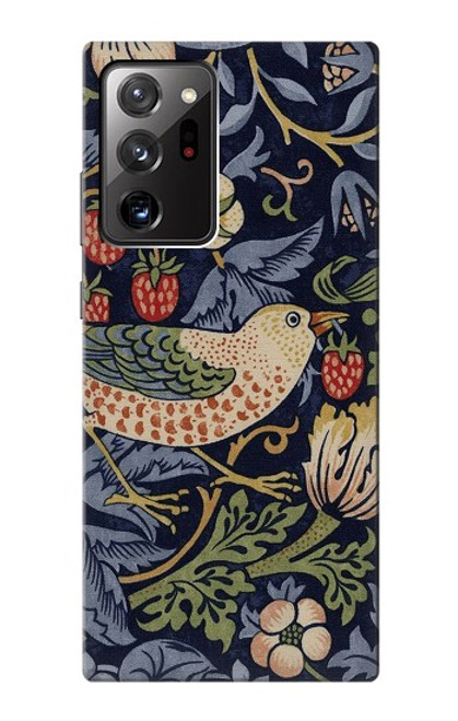 S3791 William Morris Strawberry Thief Fabric Case For Samsung Galaxy Note 20 Ultra, Ultra 5G