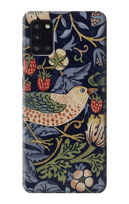 S3791 William Morris Strawberry Thief Fabric Case For Samsung Galaxy A31