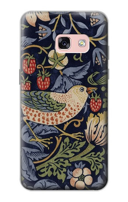 S3791 William Morris Strawberry Thief Fabric Case For Samsung Galaxy A3 (2017)
