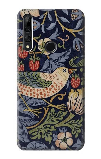 S3791 William Morris Strawberry Thief Fabric Case For Huawei Y9 Prime (2019)