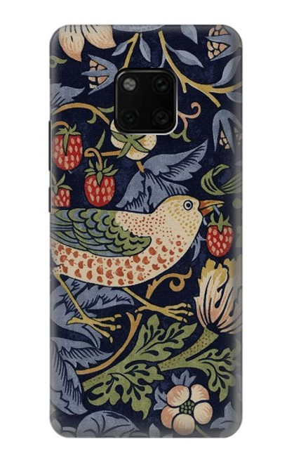 S3791 William Morris Strawberry Thief Fabric Case For Huawei Mate 20 Pro