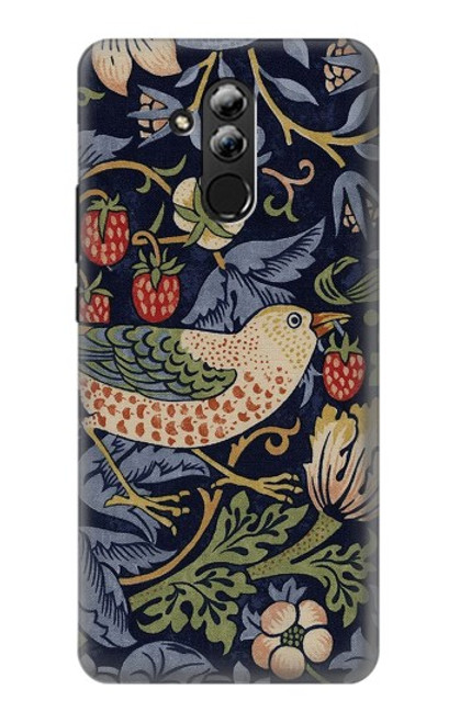 S3791 William Morris Strawberry Thief Fabric Case For Huawei Mate 20 lite