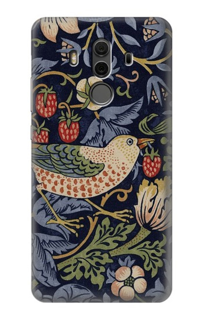 S3791 William Morris Strawberry Thief Fabric Case For Huawei Mate 10 Pro, Porsche Design