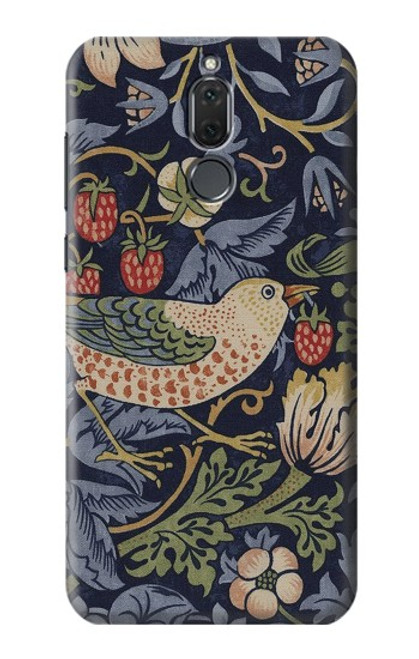 S3791 William Morris Strawberry Thief Fabric Case For Huawei Mate 10 Lite