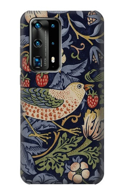S3791 William Morris Strawberry Thief Fabric Case For Huawei P40 Pro