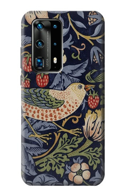 S3791 William Morris Strawberry Thief Fabric Case For Huawei P40 Pro Plus