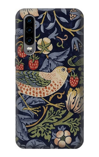 S3791 William Morris Strawberry Thief Fabric Case For Huawei P30