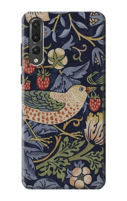 S3791 William Morris Strawberry Thief Fabric Case For Huawei P20 Pro