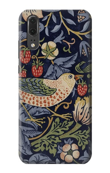 S3791 William Morris Strawberry Thief Fabric Case For Huawei P20