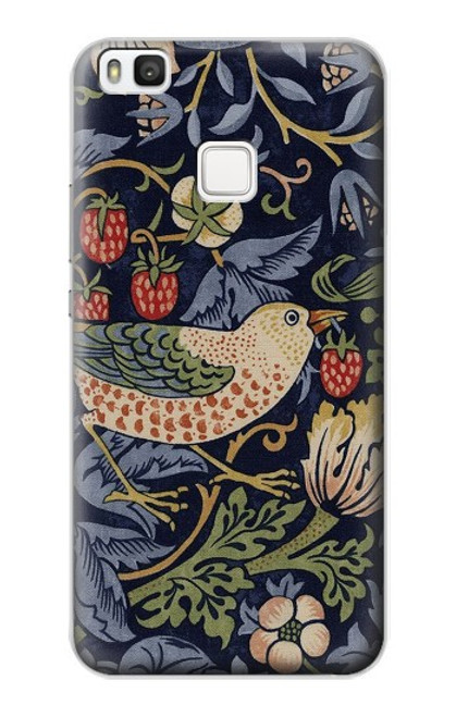 S3791 William Morris Strawberry Thief Fabric Case For Huawei P10 Lite