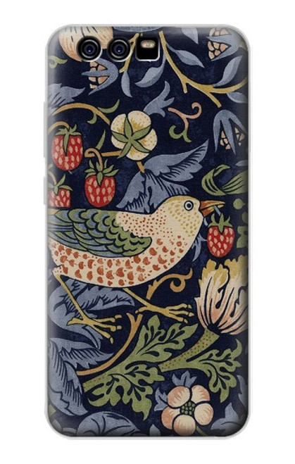 S3791 William Morris Strawberry Thief Fabric Case For Huawei P10