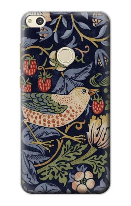 S3791 William Morris Strawberry Thief Fabric Case For Huawei P8 Lite (2017)