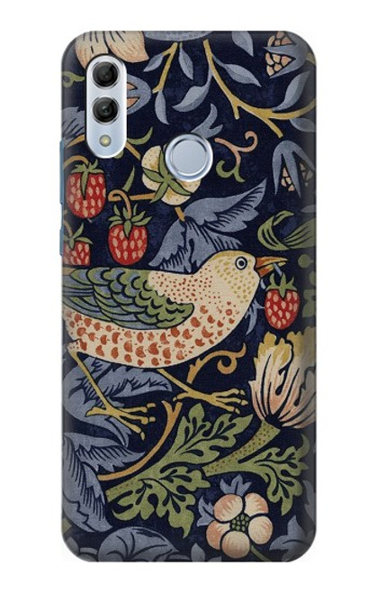 S3791 William Morris Strawberry Thief Fabric Case For Huawei Honor 10 Lite, Huawei P Smart 2019