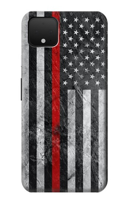 S3687 Firefighter Thin Red Line American Flag Case For Google Pixel 4 XL