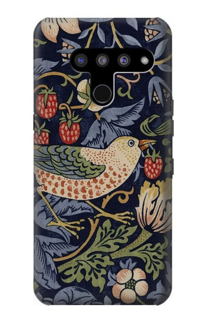 S3791 William Morris Strawberry Thief Fabric Case For LG V50, LG V50 ThinQ 5G