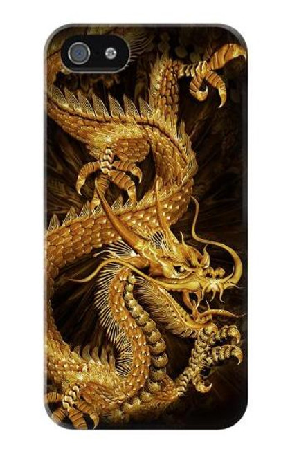 S2804 Chinese Gold Dragon Printed Case For IPHONE 5 5s SE