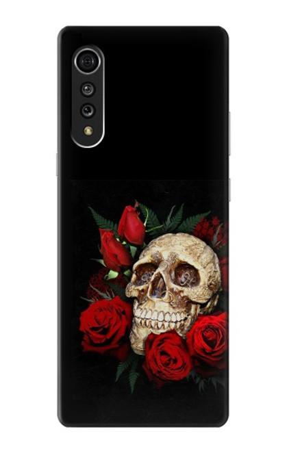 S3753 Dark Gothic Goth Skull Roses Case For LG Velvet