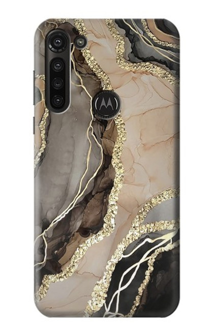 S3700 Marble Gold Graphic Printed Case For Motorola Moto G8 Power
