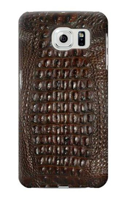 S2850 Brown Skin Alligator Graphic Case For Samsung Galaxy S6 Edge