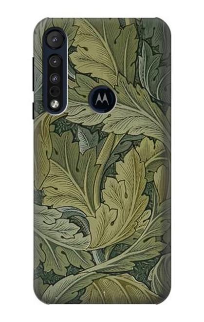 S3790 William Morris Acanthus Leaves Case For Motorola One Macro, Moto G8 Play
