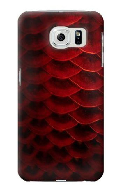 S2879 Red Arowana Fish Scale Case For Samsung Galaxy S6 Edge