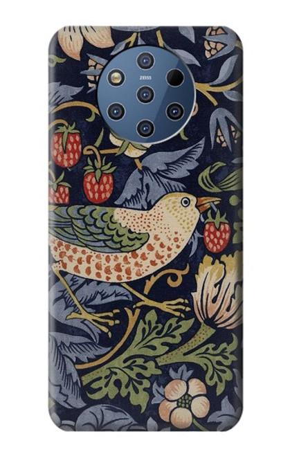 S3791 William Morris Strawberry Thief Fabric Case For Nokia 9 PureView