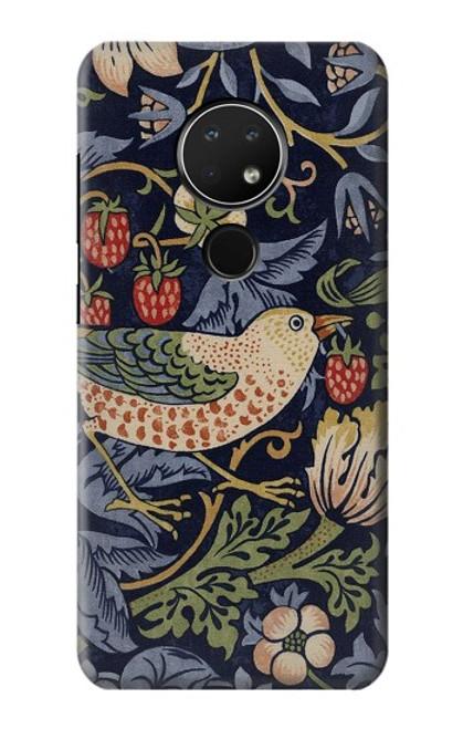 S3791 William Morris Strawberry Thief Fabric Case For Nokia 6.2