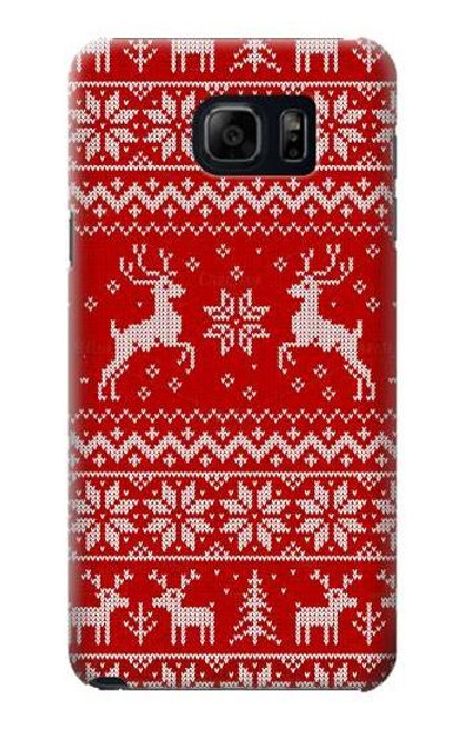 S2835 Christmas Reindeer Knitted Case For Samsung Galaxy S6 Edge Plus