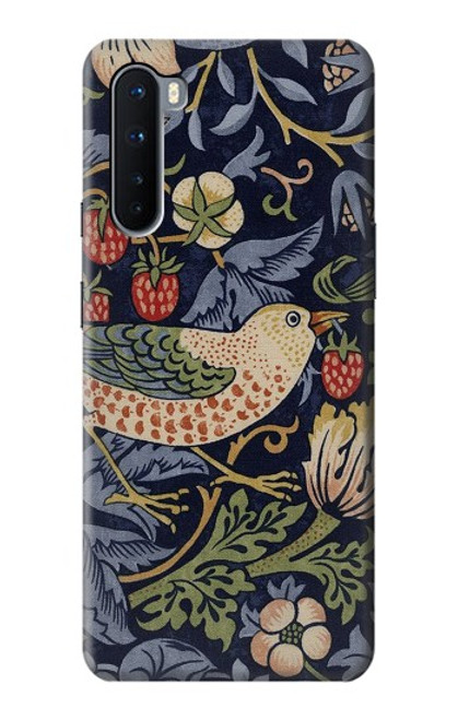 S3791 William Morris Strawberry Thief Fabric Case For OnePlus Nord