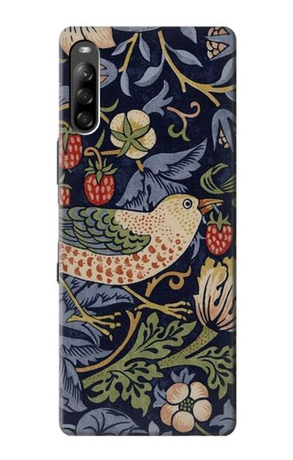 S3791 William Morris Strawberry Thief Fabric Case For Sony Xperia L4