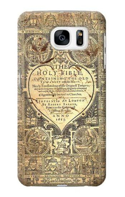 S0330 Bible Page Case For Samsung Galaxy S7