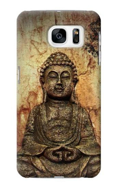 S0344 Buddha Rock Carving Case For Samsung Galaxy S7