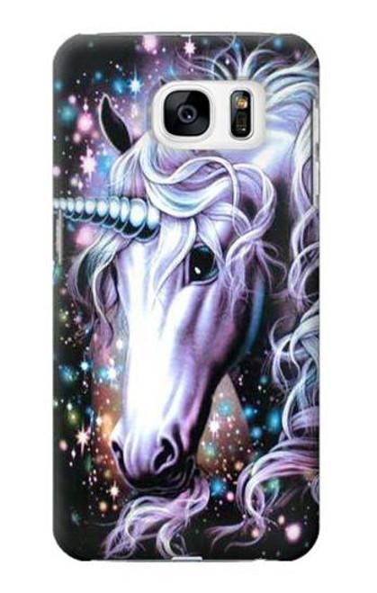 S0749 Unicorn Horse Case Cover For Samsung Galaxy S7