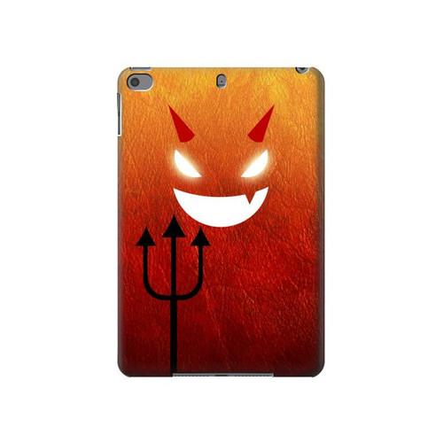 S2454 Red Cute Little Devil Cartoon Hard Case For iPad mini 4, iPad mini 5, iPad mini 5 (2019)