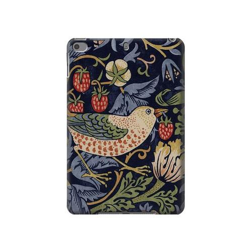 S3791 William Morris Strawberry Thief Fabric Hard Case For iPad mini 4, iPad mini 5, iPad mini 5 (2019)