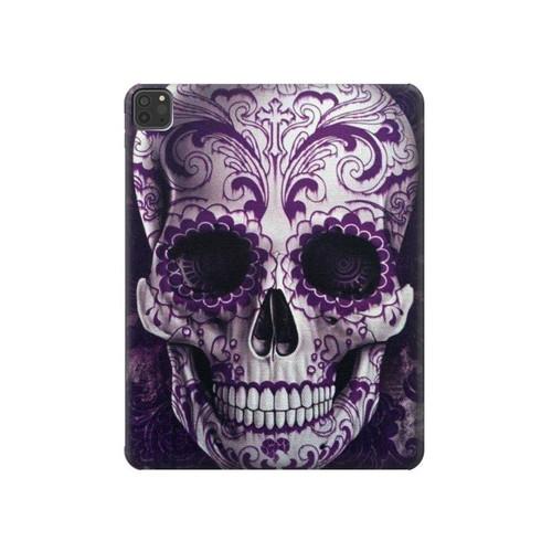 S3582 Purple Sugar Skull Hard Case For iPad Pro 11 (2018,2020), iPad Air 4 (2020), iPad Air (2020)