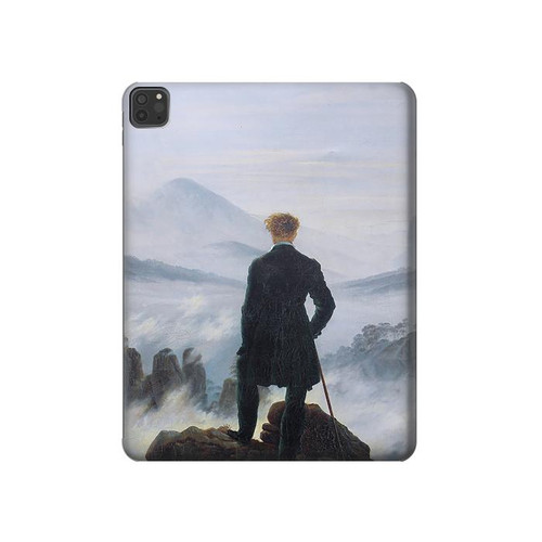S3789 Wanderer above the Sea of Fog Hard Case For iPad Pro 11 (2018,2020), iPad Air 4 (2020), iPad Air (2020)