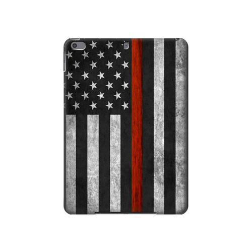 S3472 Firefighter Thin Red Line Flag Hard Case For iPad Air 3, iPad Pro 10.5, iPad 10.2 (2019,2020,2021)