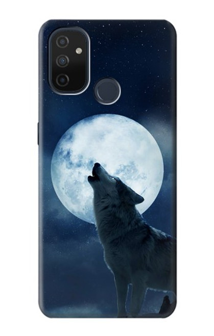 S3693 Grim White Wolf Full Moon Case For OnePlus Nord N100