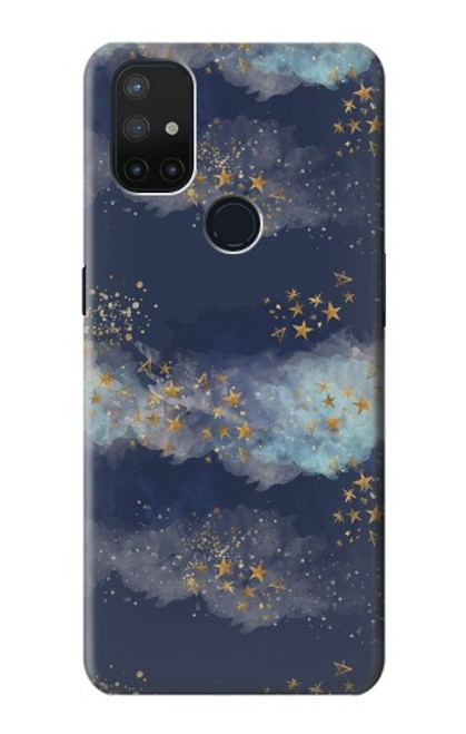 S3364 Gold Star Sky Case For OnePlus Nord N10 5G
