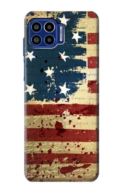 S2349 Old American Flag Case For Motorola One 5G