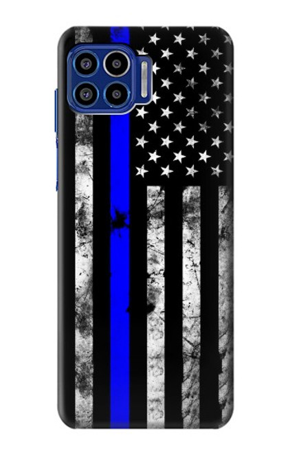 S3244 Thin Blue Line USA Case For Motorola One 5G