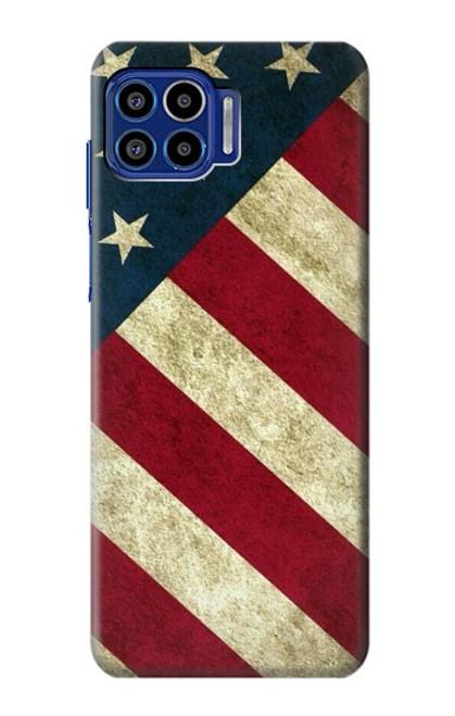 S3295 US National Flag Case For Motorola One 5G