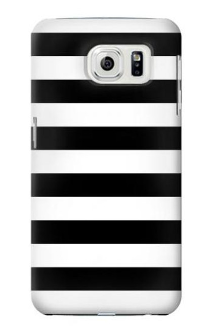 S1596 Black and White Striped Case For Samsung Galaxy S7 Edge
