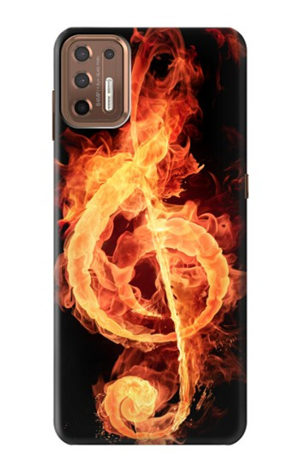 S0493 Music Note Burn Case For Motorola Moto G9 Plus