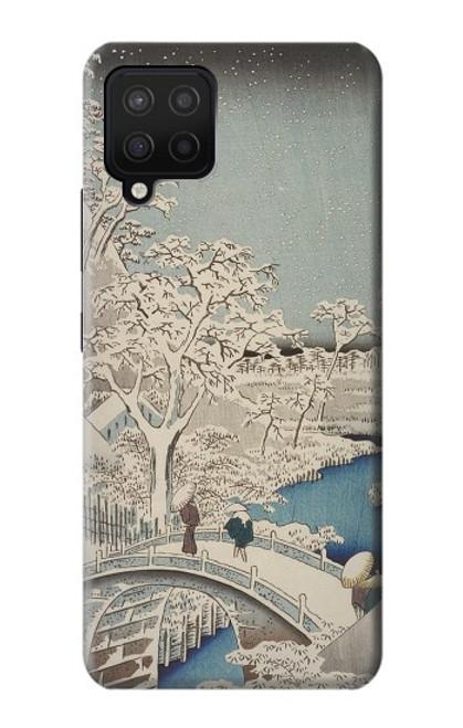 S3350 Utagawa Hiroshige Drum Bridge Yuhi Hill in Meguro Case For Samsung Galaxy A42 5G