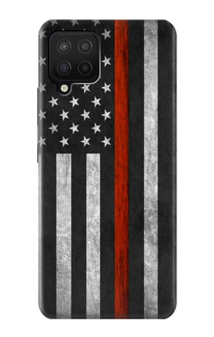 S3472 Firefighter Thin Red Line Flag Case For Samsung Galaxy A42 5G