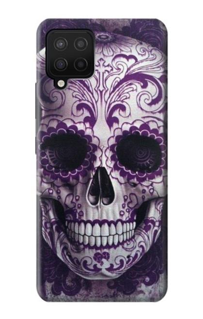 S3582 Purple Sugar Skull Case For Samsung Galaxy A42 5G