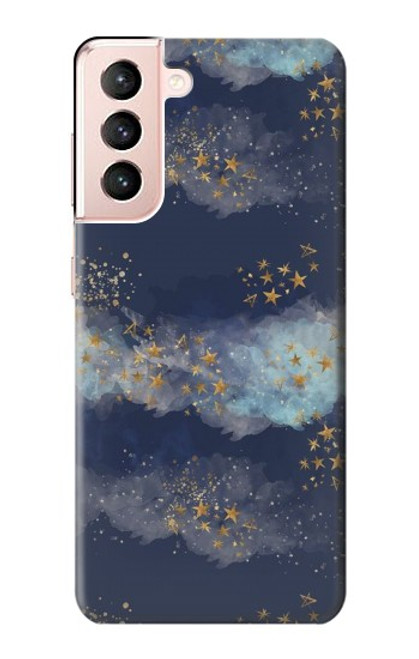 S3364 Gold Star Sky Case For Samsung Galaxy S21 5G